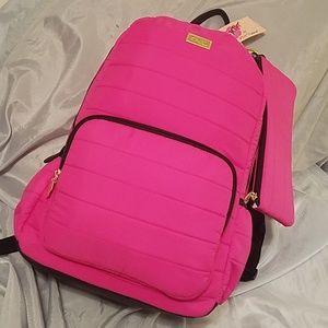 Betsey johnson fushia backpack w/detachable
